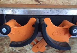 Wall brackets for skis etc